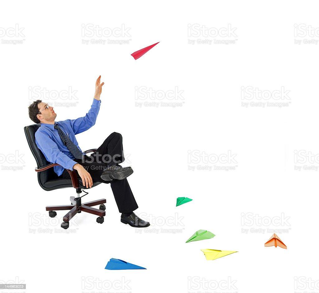 Businessman launching new ideas royalty-free stock photo