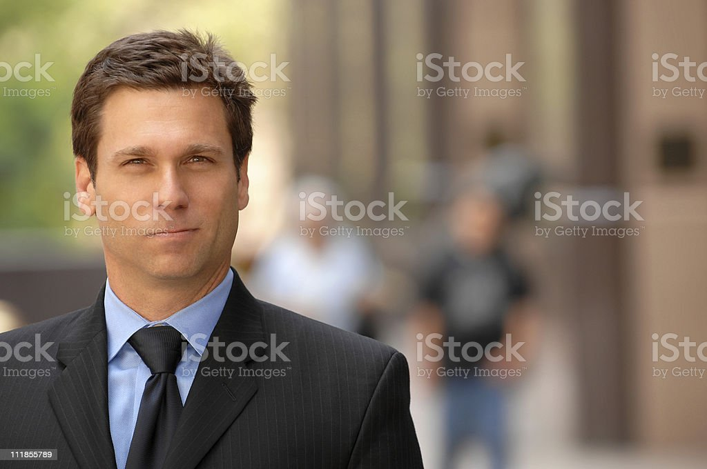 Businessman Lawyer on Financial District Street royalty-free stock photo