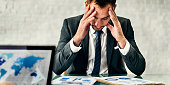Businessman Leader Stress Meeting Strategy Concept