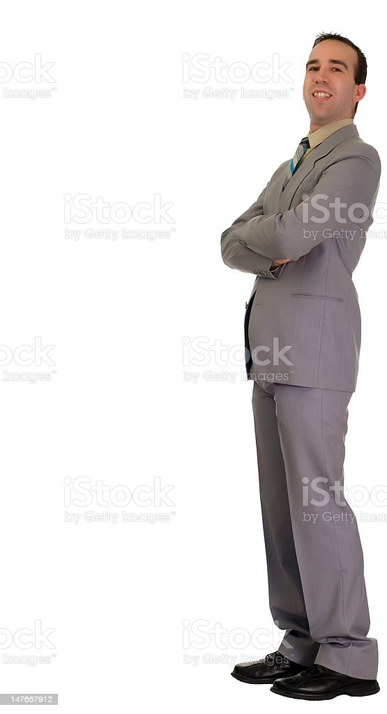 Businessman Leaning royalty-free stock photo