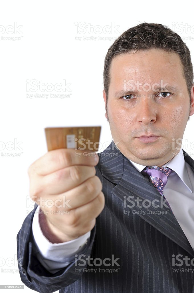 businessman lengthen credit card royalty-free stock photo