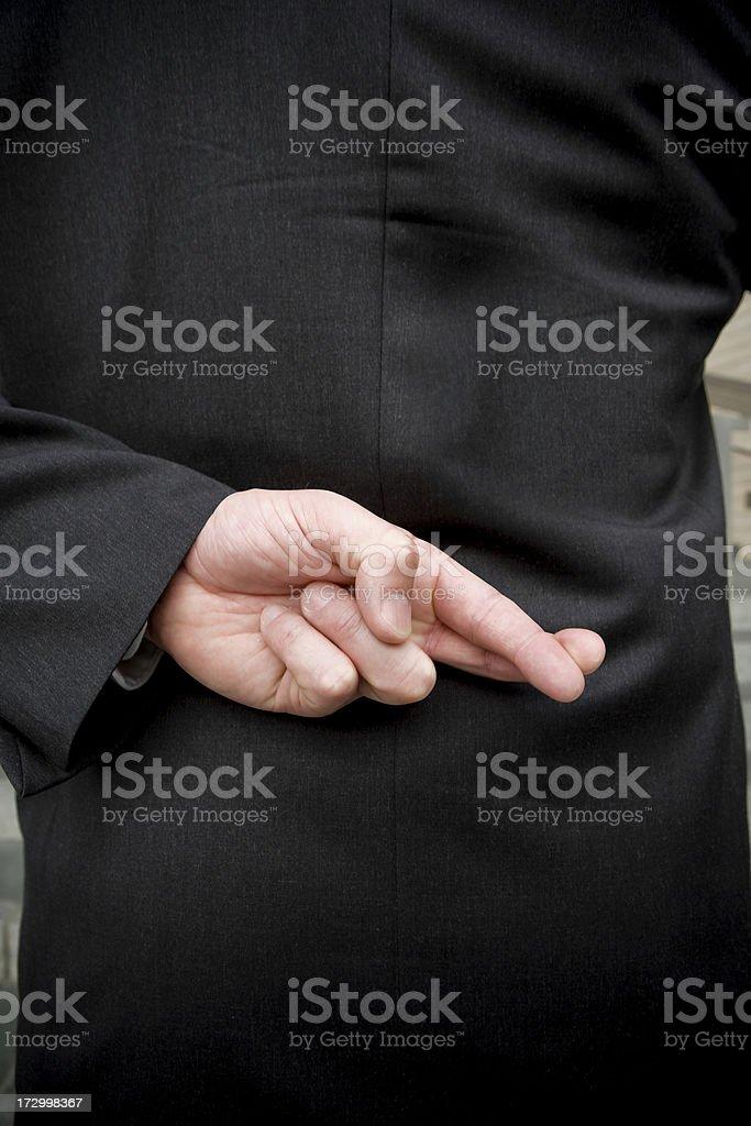 Businessman: Liar royalty-free stock photo