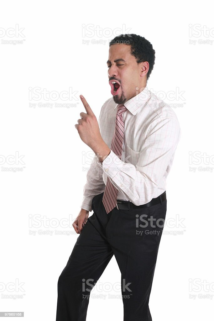 Businessman likes to party royalty-free stock photo