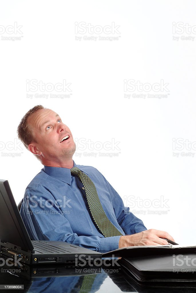 businessman – look what's falling stock photo