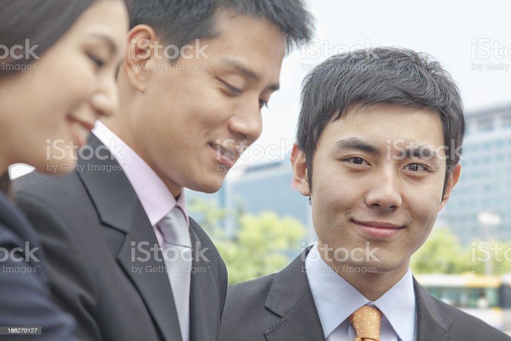 Businessman Looking at Camera royalty-free stock photo