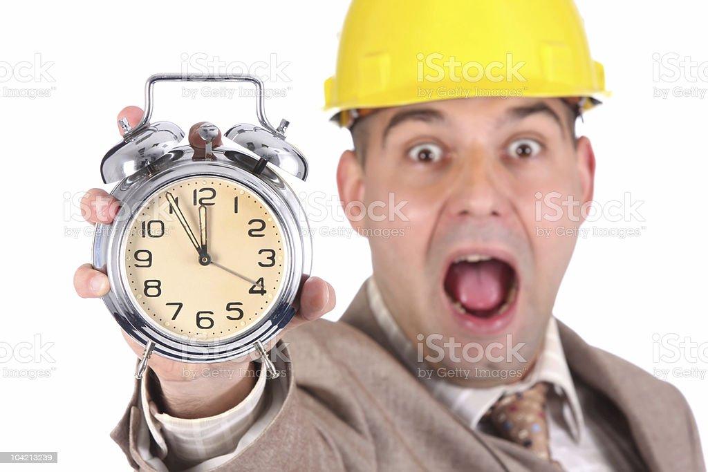 businessman looking at clock alarm royalty-free stock photo