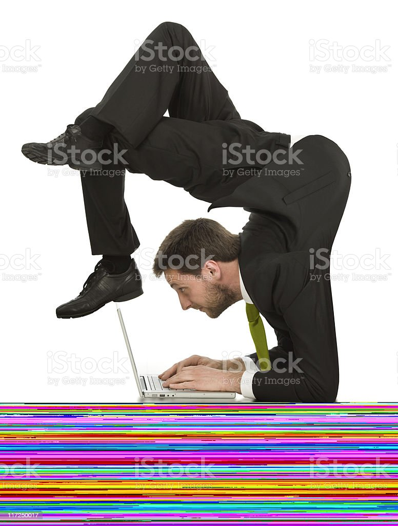 Businessman Looking at Computer Monitor royalty-free stock photo