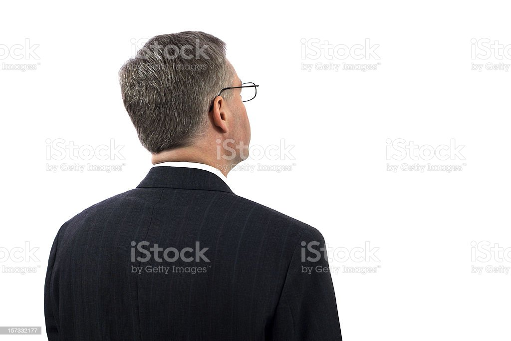Businessman Looking at Copy Space stock photo