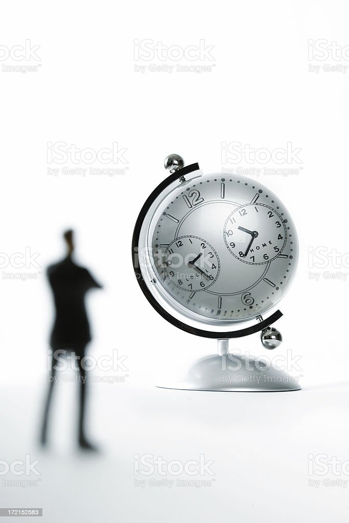 Businessman looking at time. royalty-free stock photo