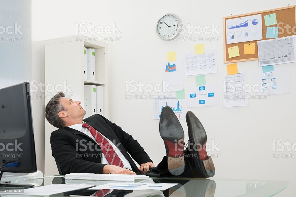 Businessman Looking At Time stock photo