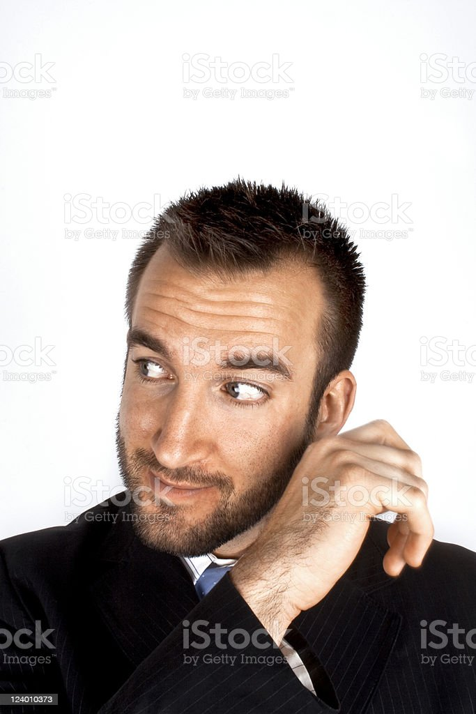 Businessman looking away royalty-free stock photo