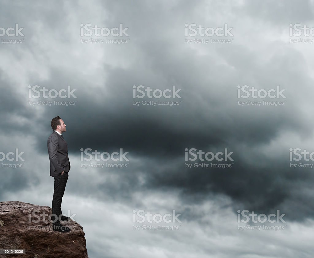 Businessman looking away stock photo