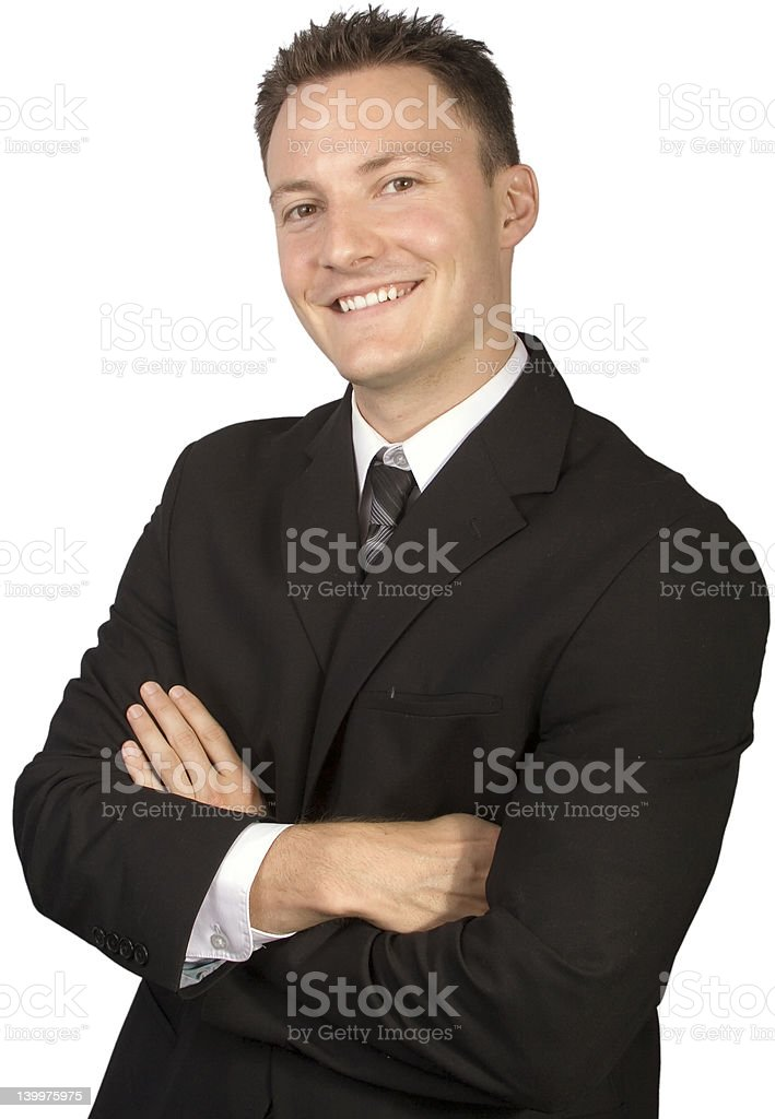 Businessman Looking Confident royalty-free stock photo