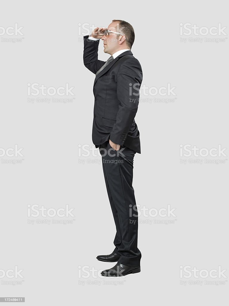 Businessman looking far away royalty-free stock photo