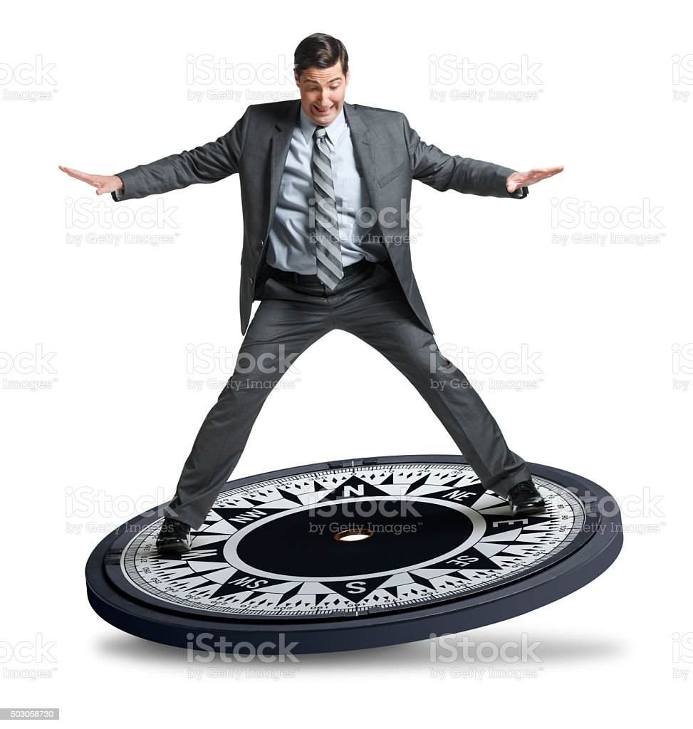 Businessman Looking For Direction stock photo
