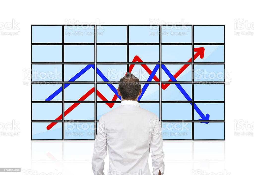 businessman looking on chart royalty-free stock photo