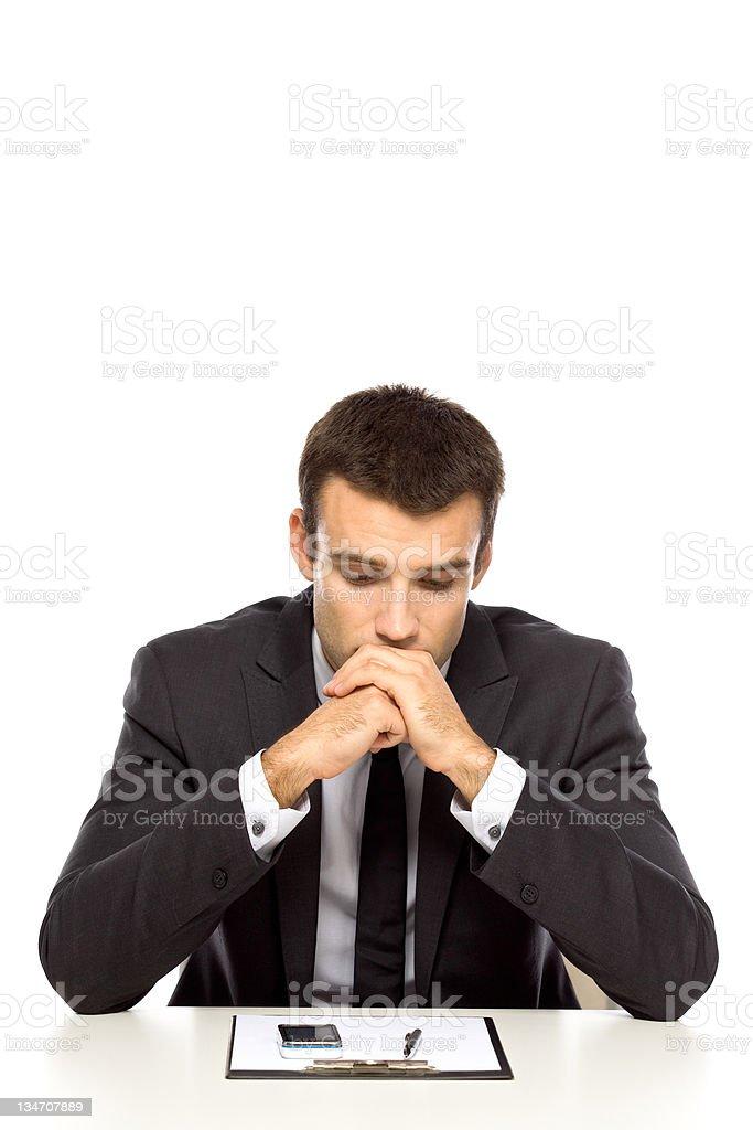 Businessman looking sad royalty-free stock photo