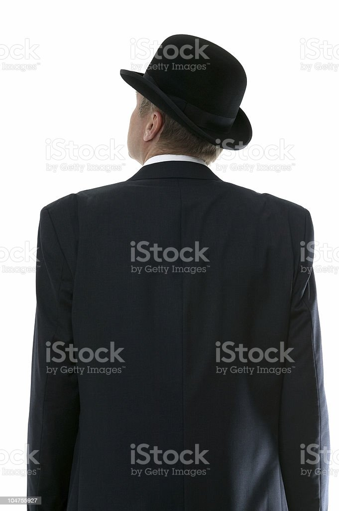 Businessman looking up royalty-free stock photo