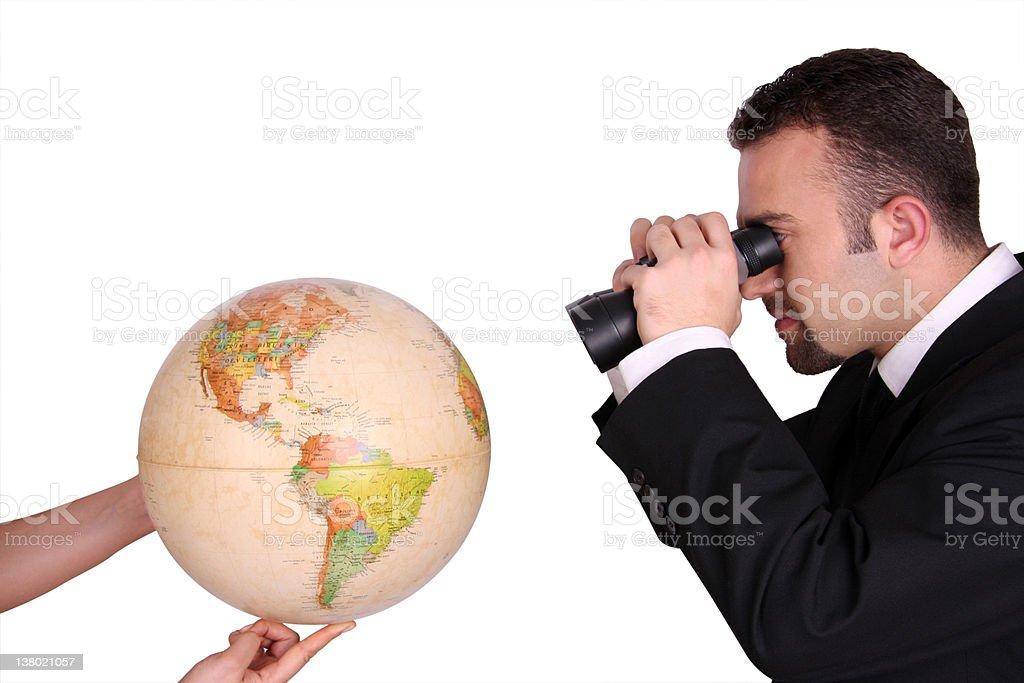 Businessman Looking World royalty-free stock photo