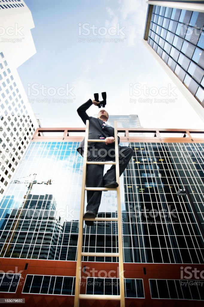 businessman looks to the future royalty-free stock photo