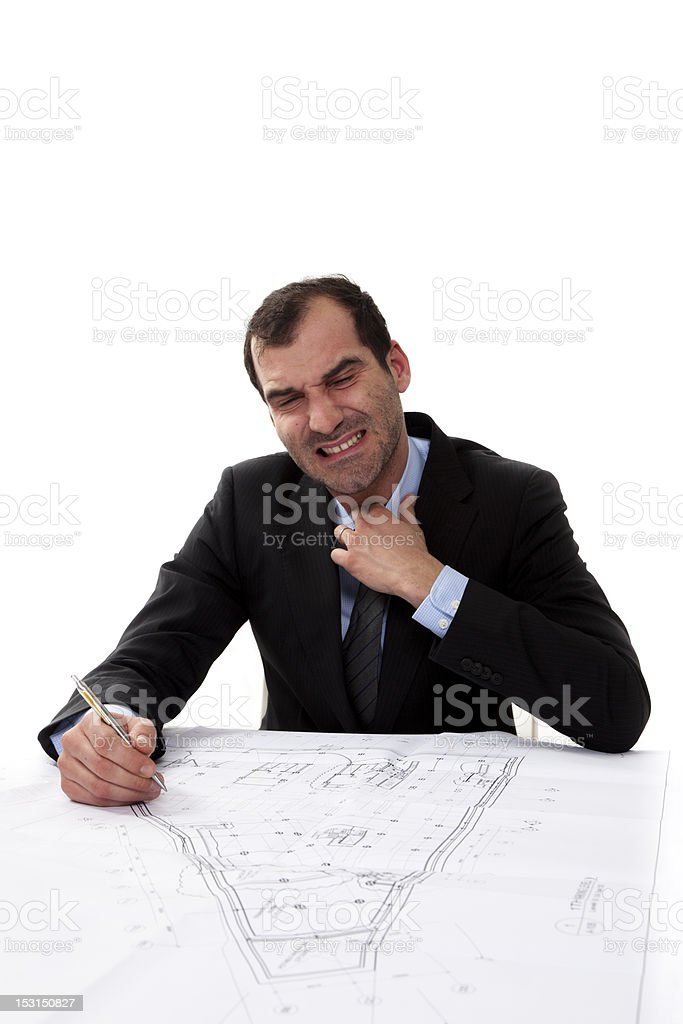 Businessman loosen his tie royalty-free stock photo