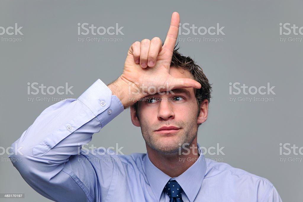 Businessman loser royalty-free stock photo