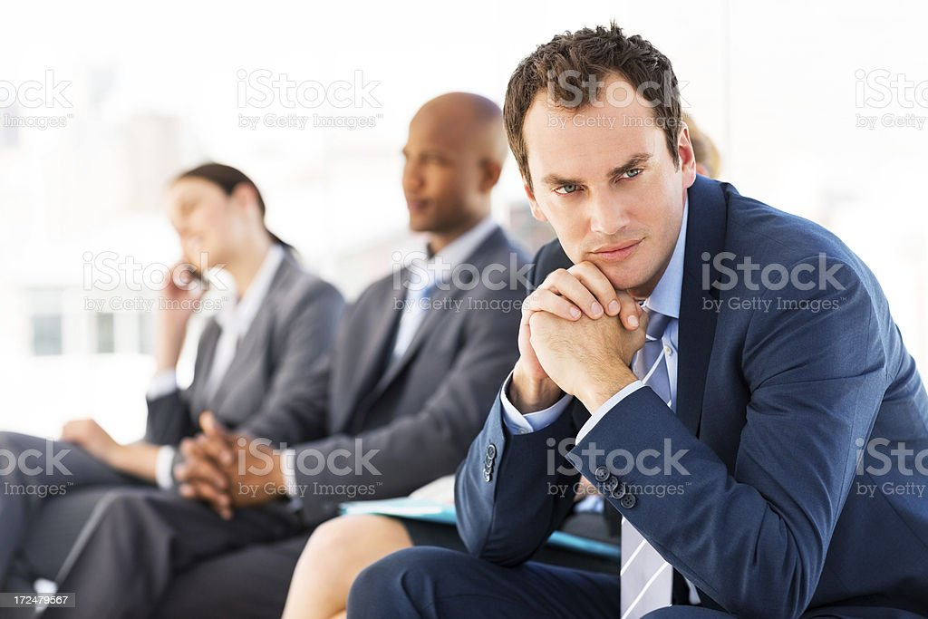 Businessman Lost In Thoughts royalty-free stock photo