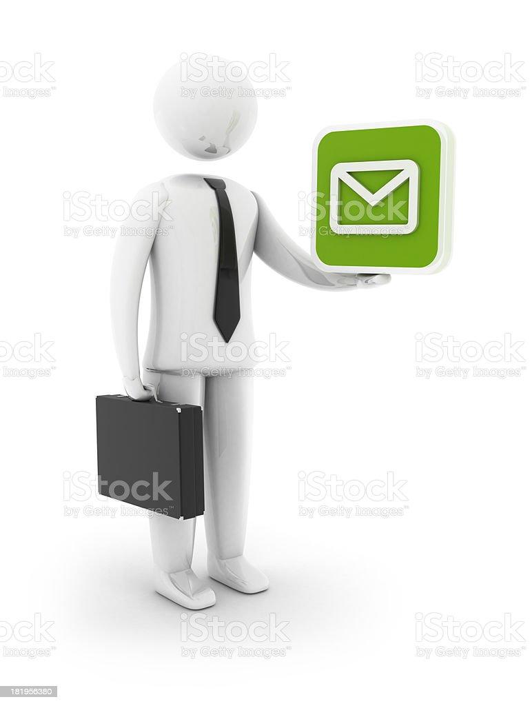 Businessman - Mail icon royalty-free stock photo