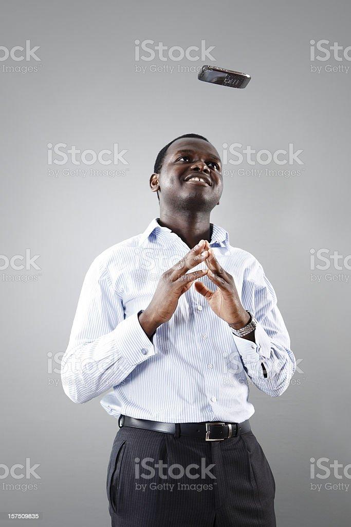 Businessman Mind Control royalty-free stock photo