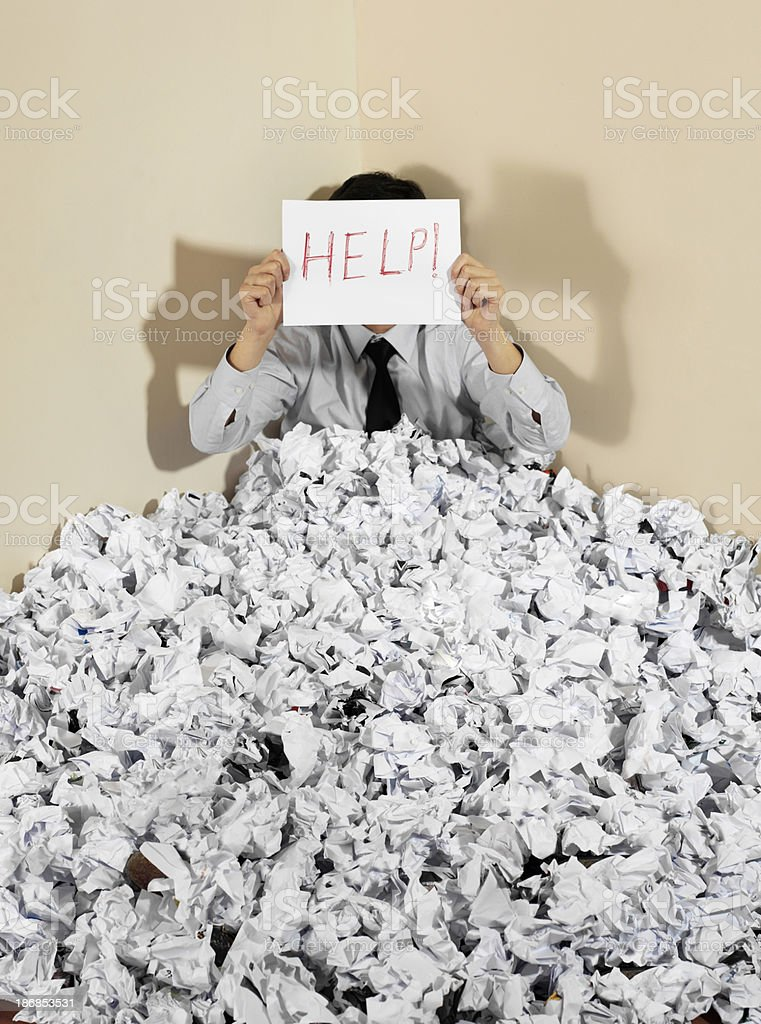 Businessman needs help royalty-free stock photo