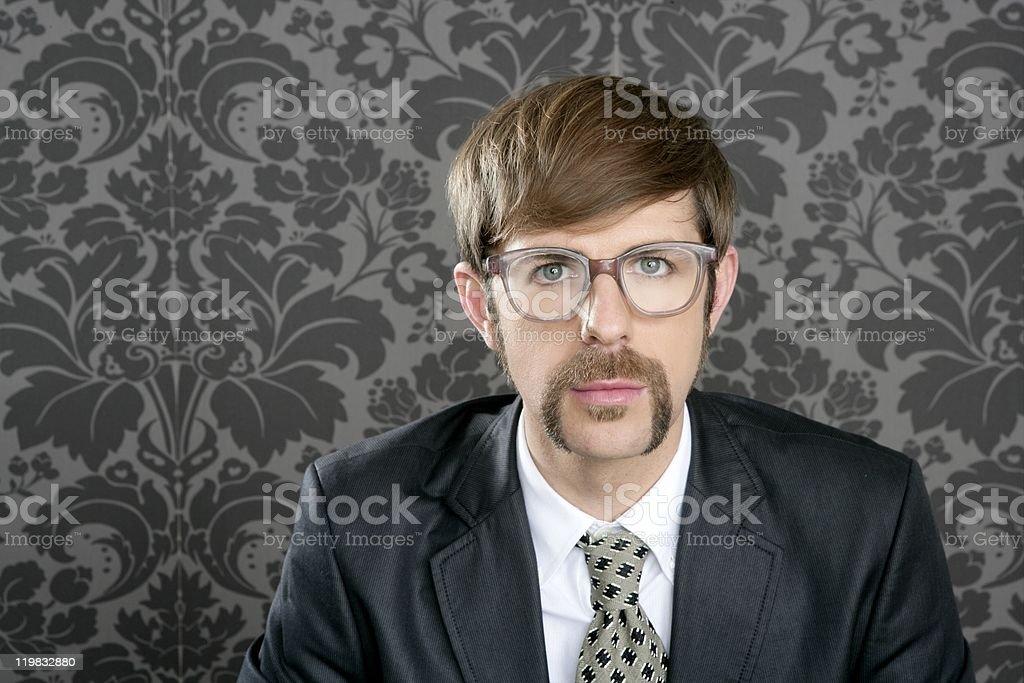 businessman nerd retro glasses  portrait royalty-free stock photo