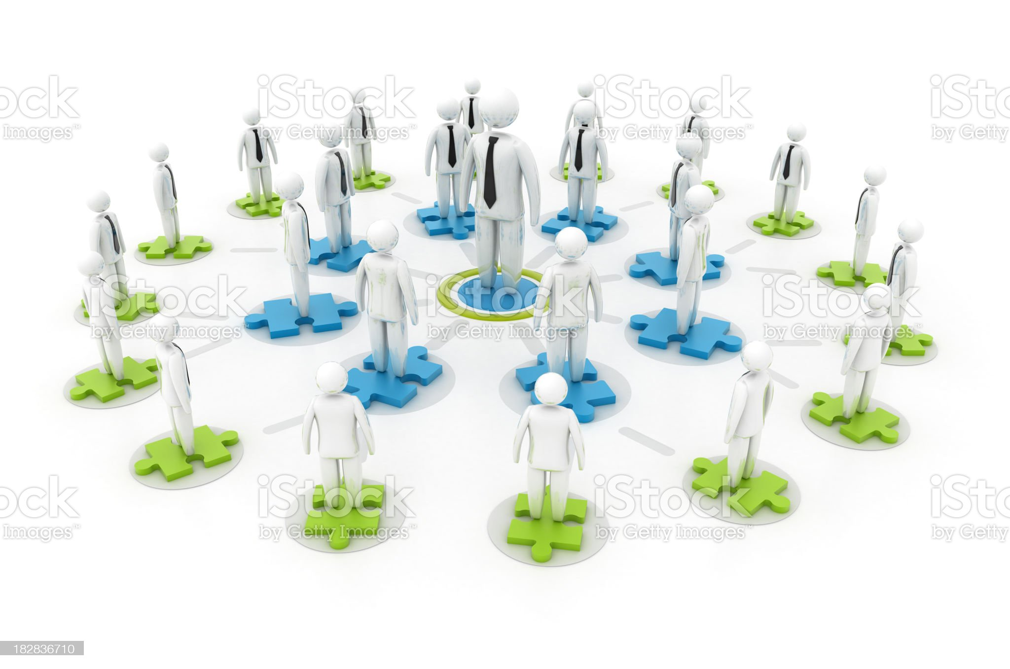 Businessman - Network concept royalty-free stock photo