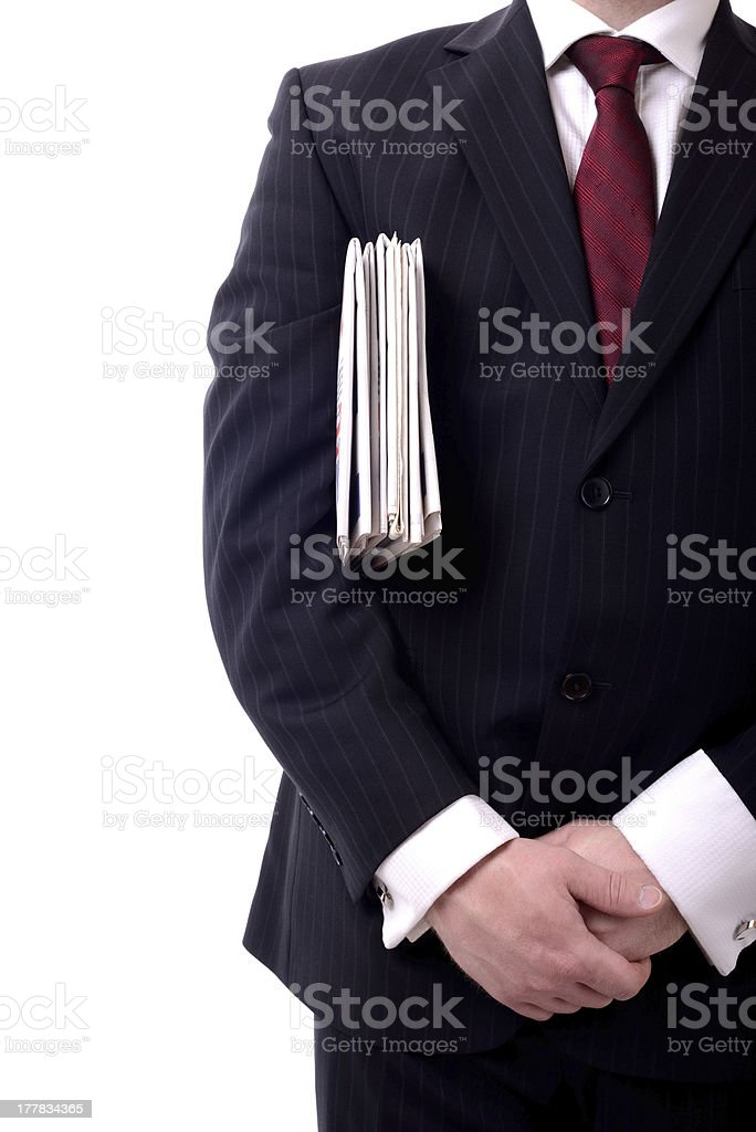 businessman newspapers royalty-free stock photo
