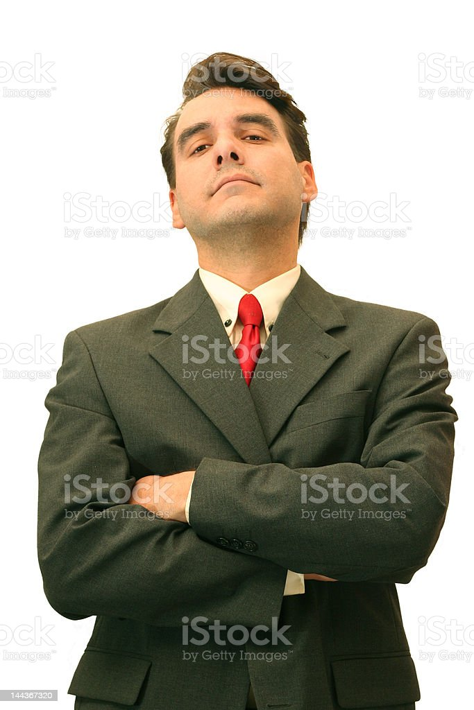 Businessman observing stock photo
