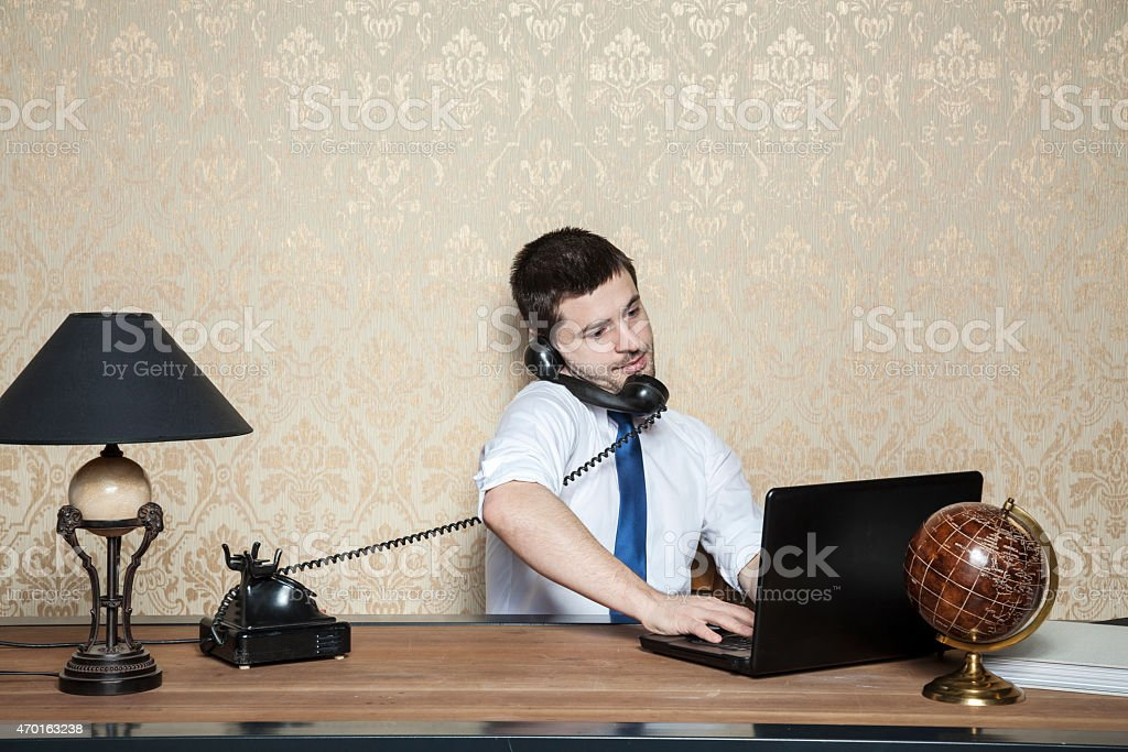 businessman of special tasks stock photo