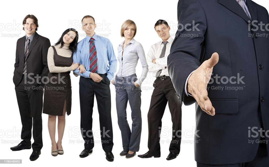 Businessman offering for handshake royalty-free stock photo