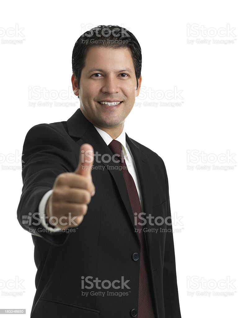 Businessman offering hand shake royalty-free stock photo
