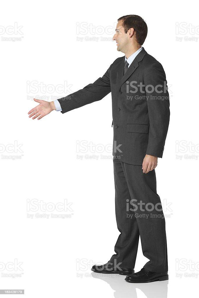 Businessman offering handshake stock photo