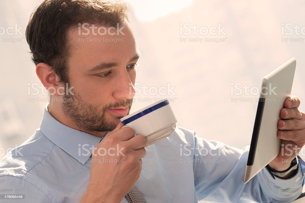 Businessman on a break stock photo