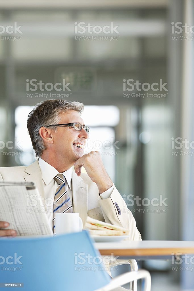 Businessman on a Lunch Break royalty-free stock photo