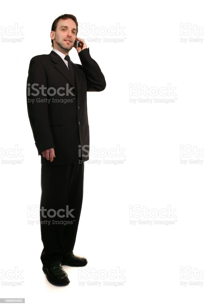 Businessman on a phone royalty-free stock photo