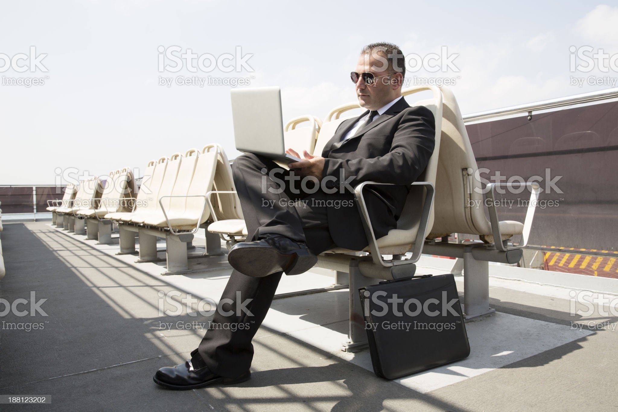 Businessman On Bench royalty-free stock photo