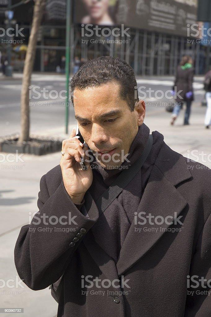 Uomo d'affari su telefono cellulare - 3 foto stock royalty-free