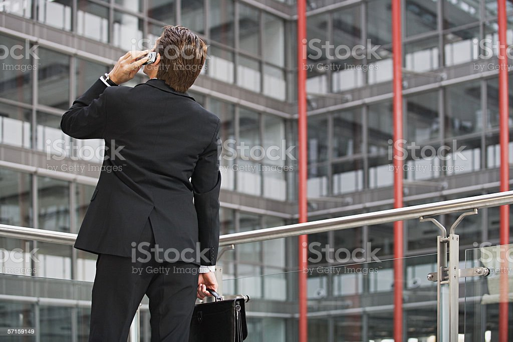 Businessman on cell phone royalty-free stock photo