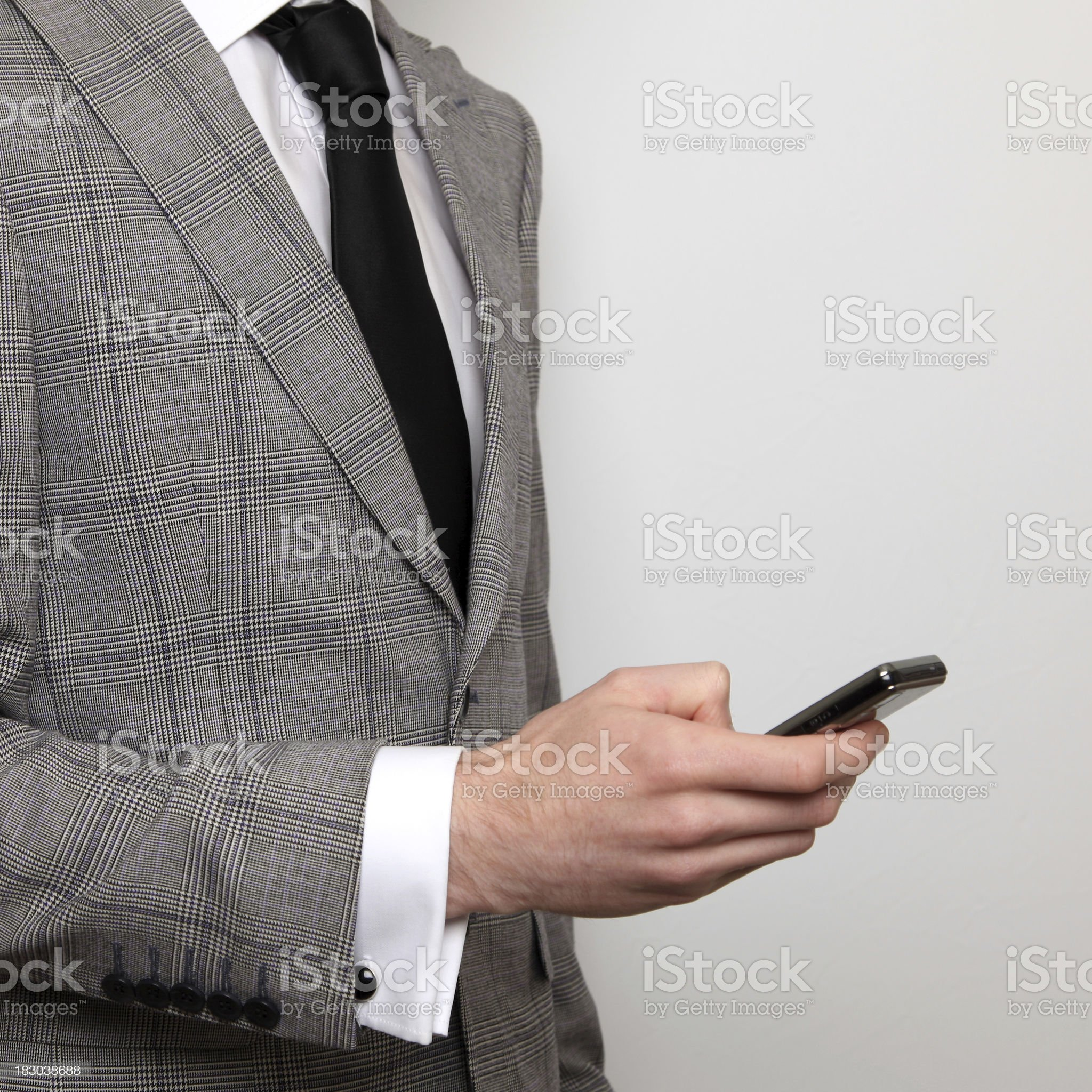 Businessman on cellphone royalty-free stock photo