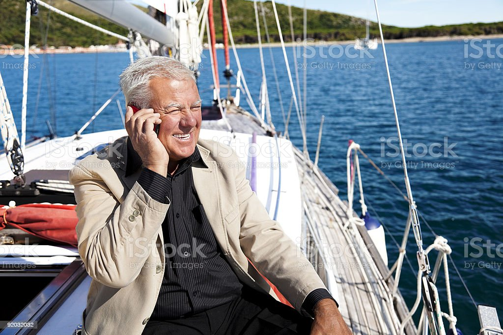 Businessman on holiday. royalty-free stock photo
