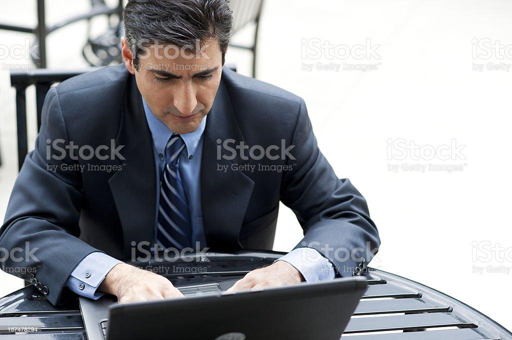 Businessman on Laptop royalty-free stock photo
