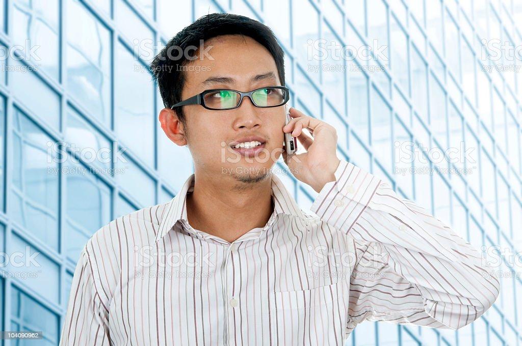 Businessman on phone. royalty-free stock photo