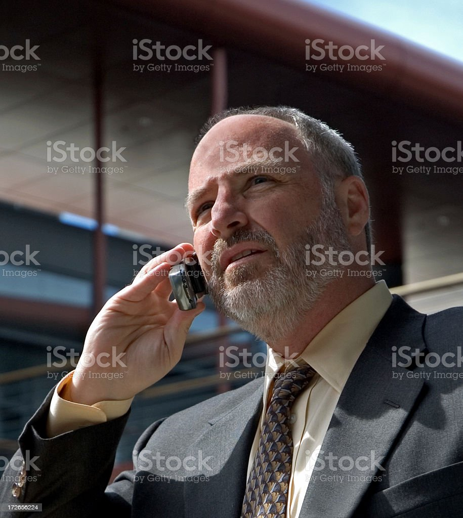 Uomo d'affari al telefono foto stock royalty-free