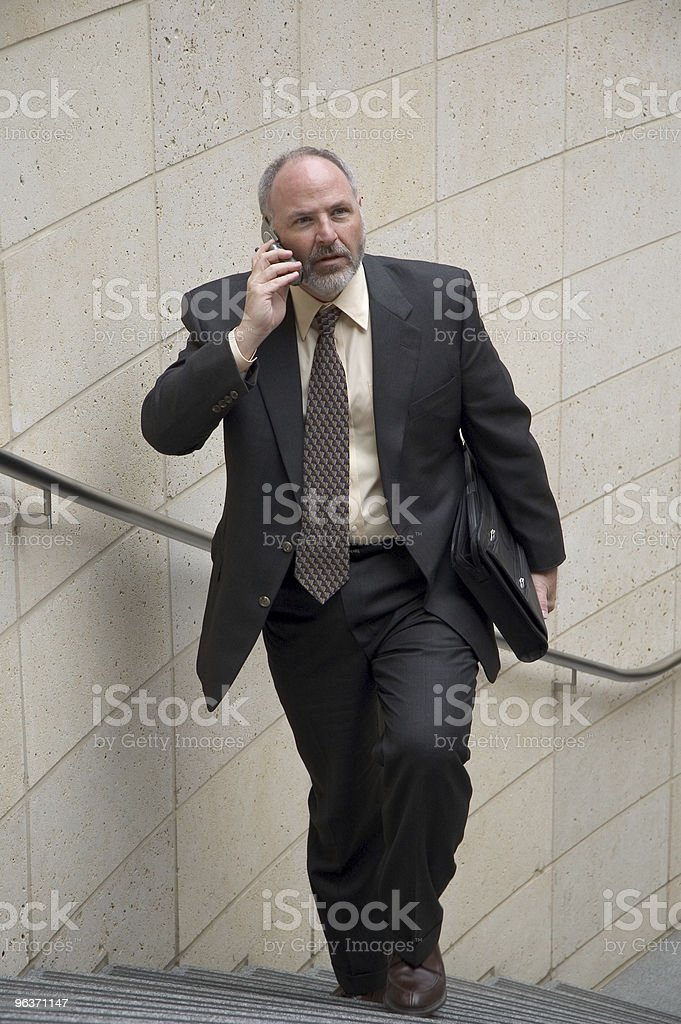 Businessman on phone royalty-free stock photo